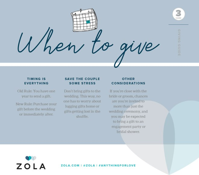 Zola Card 3 - When To Give